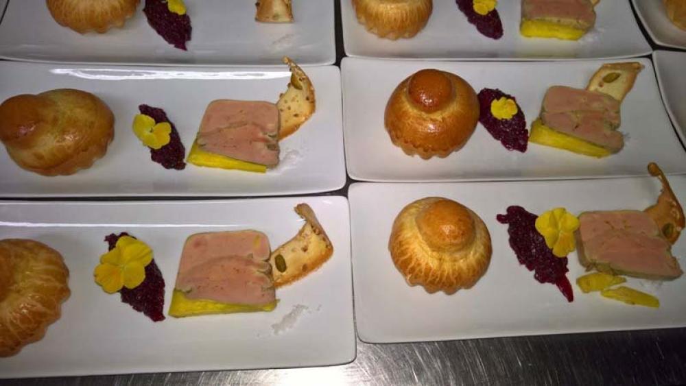 Plateaux repas du service traiteur